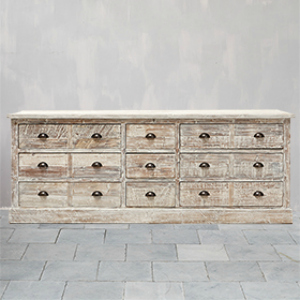 SIDEBOARD DISTRESSED FINISH 9 DRAWERS