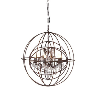 CHANDELIER IN METAL GLOBE