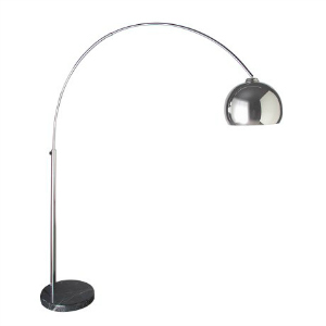 LARGE EXTENDING CHROME FLOOR LAMP