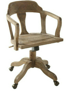 SWIVEL DESK CHAIR IN RECLAIMED WOOD