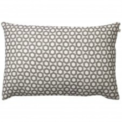GREY AND OFF WHITE LINEN CUSHION