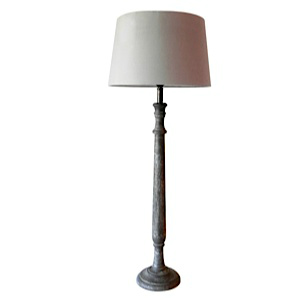 LAMP WITH A GREY WOOD BASE