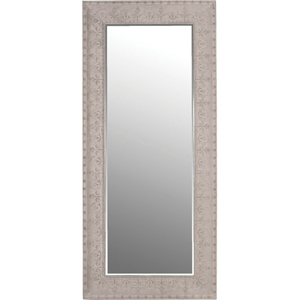 LARGE MIRROR WITH GREY EMBOSSED SURROUND