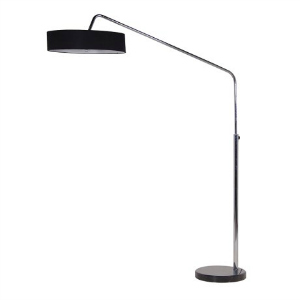 OVERHANG LAMP CHROME BLACK SHADE