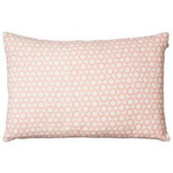 PINK AND OFF WHITE LINEN CUSHION