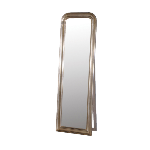 FREESTANDING MIRROR WITH SILVER SURROUND