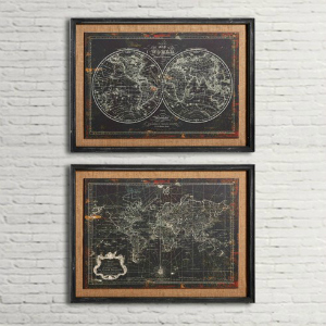 WORLD MAP AND GLOBE PRINTS