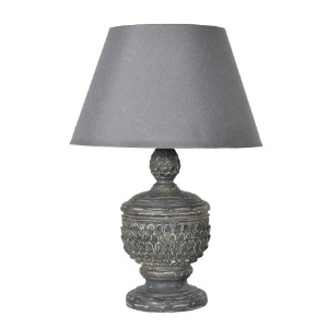 ACORN LAMP IN A DARK BLUE/GREY DISTRESSED FINISH