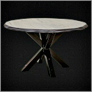 TRUNK ROUND DINING TABLE