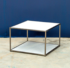 WHITE MARBLE SIDETABLE