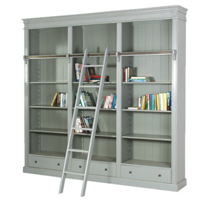 BOOKCASE IN A PAINTED GREY FINISH