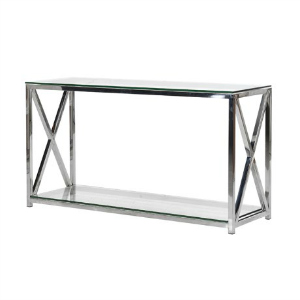 CHROME AND GLASS CONSOLE