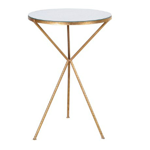 TRIPOD TABLE WITH MIRROR TOP