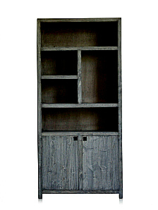 GREY WASHED BOOKCASE