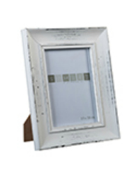 PICTURE FRAME DISTRESSED WHITE