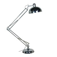 ANGLED FLOOR  LAMP IN CHROME