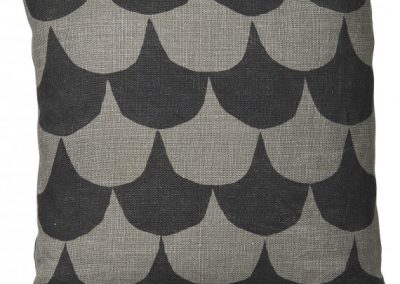 GREY AND BLACK  LINEN CUSHION