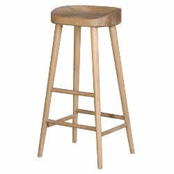 HIGHSTOOL IN A WEATHERED OAK FINISH