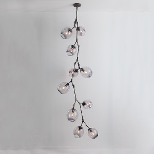 TEN GLOBE METAL CHANDELIER