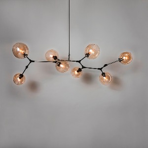 EIGHT GLOBE METAL CHANDELIER