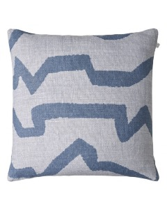 LINEN CUSHION BLUE SHADES