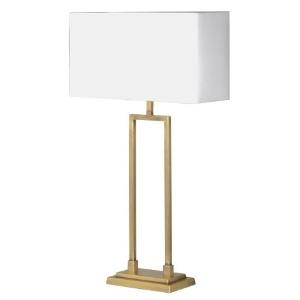 LAMP WITH BRUSHED BRASS BASE