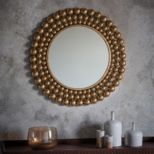 MIRROR WITH GOLD SURROUND
