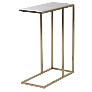 SIDETABLE GOLD BASE WITH MARBLE TOP